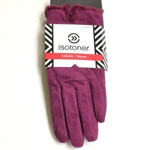 Isotoner Women's Suede Gloves Size Large